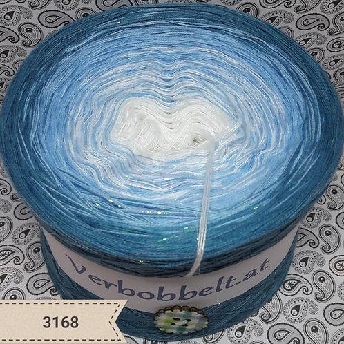 Bobbel weiß blau Farbverlaufsgarn häkeln