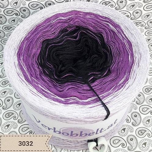 Farbverlaufsgarn Bobbel schwarz violett weiss günstig kaufen