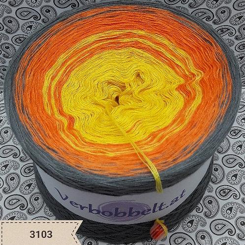 Bobbel günstig kaufen | Farbverlaufsgarn aus Österreich | gelb orange grau