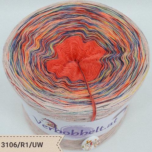 Bobbel in Umgekehrter Wicklung | Bobbel mit Regenbogengarnl kaufen | orange
