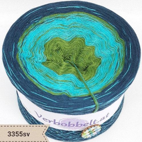 Einzigartig schöner Bobbel mit sanftem Farbverlauf-grün-riviera-petrolfarben