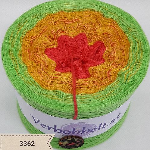Bobbel mit sommerlichen Farbverlauf zum häkeln und stricken