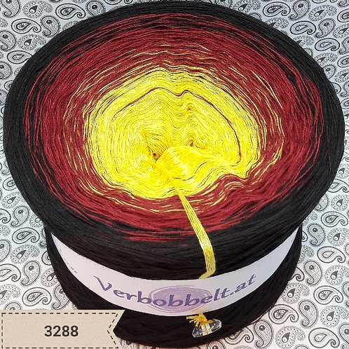 Bobbel häkeln | Bobbel stricken | 5-fädig | gelb - rot - schokoladebraun