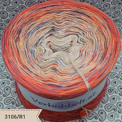 Bobbel mit Regenbogengarn | Rainbow Yarn | Orange-Lachs | Bobbel Österreich