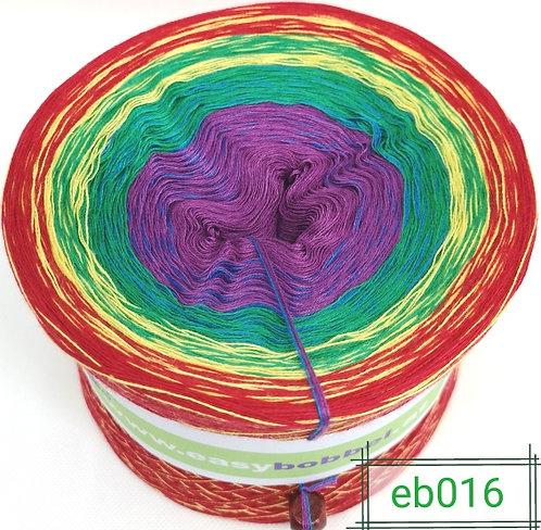 Farbverlaufsgarn mit 5 Farben - lass etwas wundervolles entstehen - www.easybobbel.at