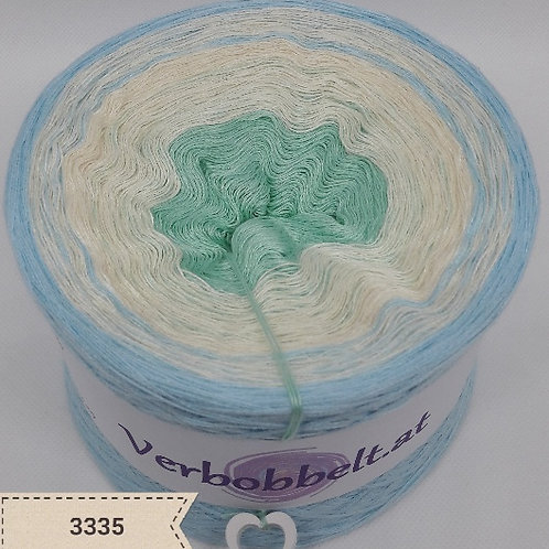 Babydecke häkeln mit Bobbel - perfekt zum häkeln und stricken geeignet-pistazie-creme-hellblau