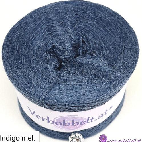 Lässiges Jeansfarbenes Indigoblau mit feiner Melierung - einfärbiger Bobbel