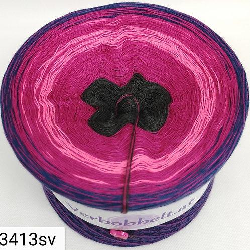 Bobbel mit sanftem Farbverlauf und weichen Farbübergang-schön gearbeitet in den Farben grau - pink - blau