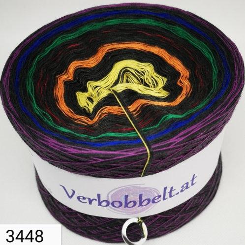 Außergewöhnlich schöner Bobbel - einzigartiger Farbverlaufsgarn mit 7 Farben im abgestimmten Farbverlauf - Anthrazit