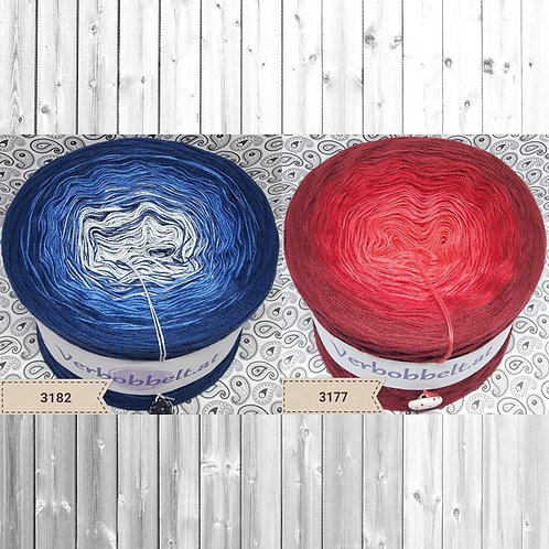 Bobbel im Doppelpack kaufen - rot - blau - mit Beilauffaden