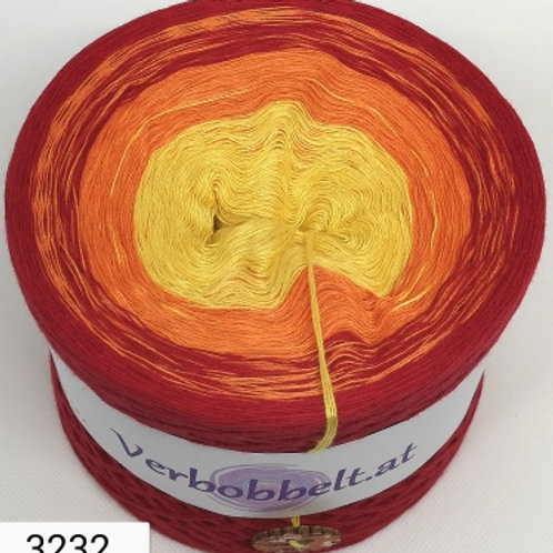 Farbverlaufsgarn Bobbel gelb orange rot