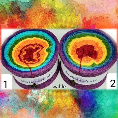 Chakrabobbel - Farbverlaufsgarn mit 7 Chakren im Verlauf - 2 Varianten wählbar - bis 2500 Meter