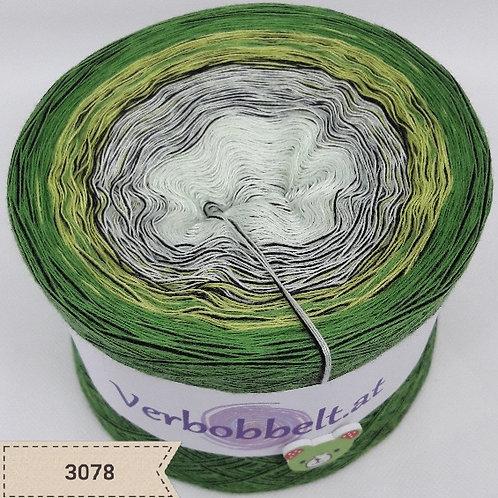 Bobbel mit Beilaufgarn | grün weiss schwarz günstig kaufen | häkeln & stricken