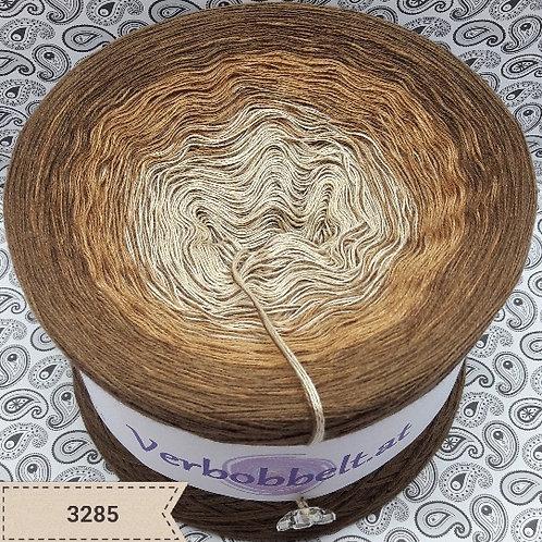 Bobbel in herbstlichen Brauntönen | Bobbel mit Beilaufgarn | Nuss - Beige