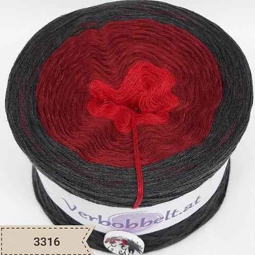 Farbverlaufsgarn Bobbel | teuflisch schöner Farbverlauf | rot und anthrazitfarben