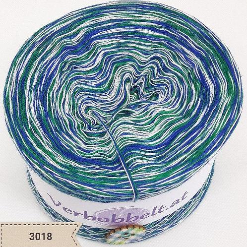 Bobbel ohne Farbverlauf | weiss blau grün | Bobbel günstig kaufen