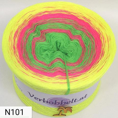Bobbel neonfarben - Farbverlaufsgarn mit neonfarben - neongelb - neongrün - pink