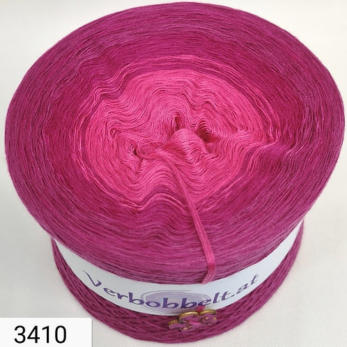 Bobbel heiße Liebe - mit rosa pinken Farbverlauf - 3-fädig, 4-fädig, 5-fädig, 6-fädig