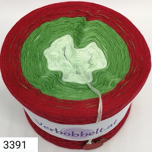 Bobbel für Dreiecks oder Schultertuch - häkeln und stricken leicht gemacht - grüne Farbtöne und rot