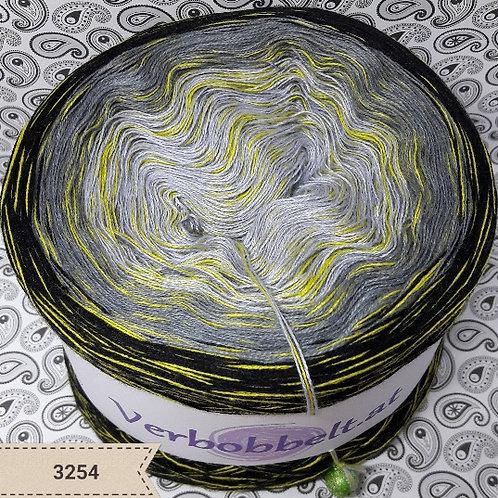 häkeln und stricken - Bobbel mit Farbverlauf | grau schwarz gelb