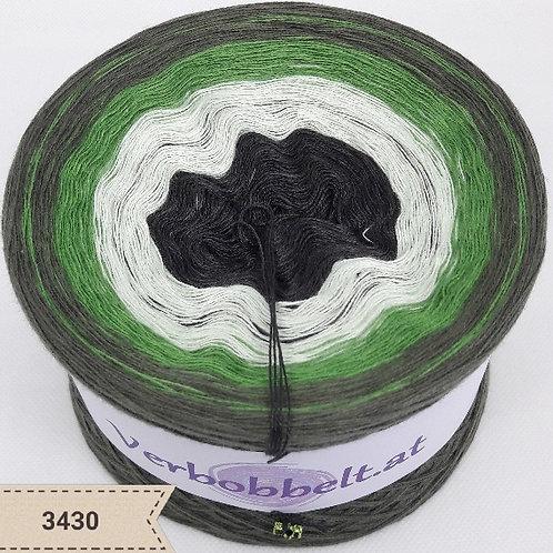 Bobbel mit anthrazitgrau und drei schönen grünen Farbtönen - aussen jägergrün