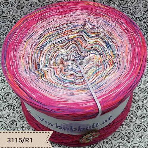 Bobbel mit Regenbogengarn | Rainbowyarn | Einhorn | Pink-Rosa