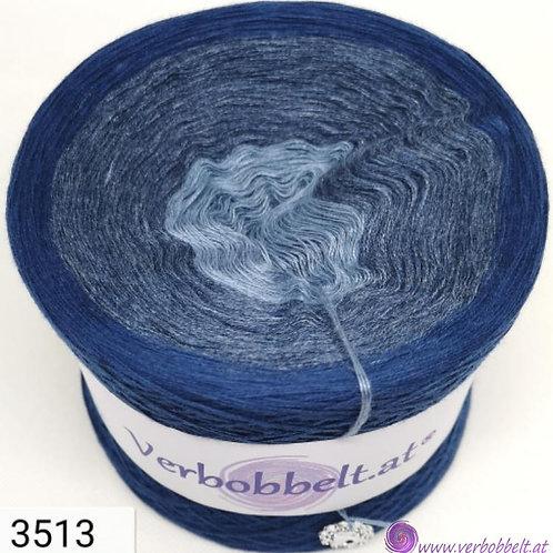 Bobbel Jeanslook - mit Indigoblau meliert - Tuch oder Tunika häkeln und stricken