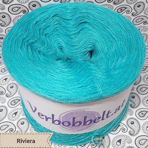 Bobbel einfärbig zum häkeln und stricken türkisblau