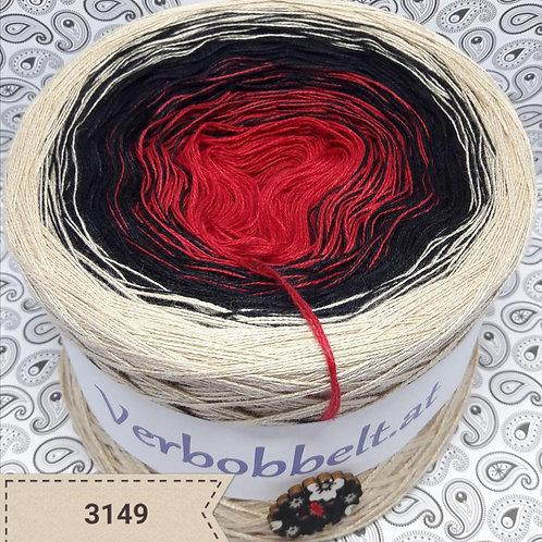 Farbverlaufsgarn rot schwarz beige günstig kaufen
