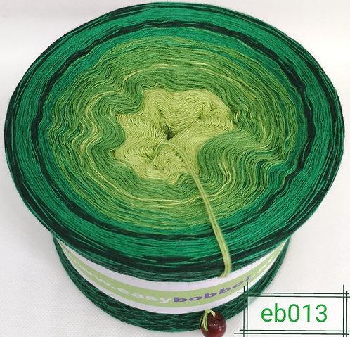 Bobbel mit saftig grünen Farben und sanftem Farbverlauf