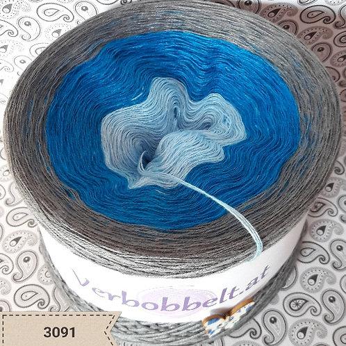 Farbverlaufsgarn blau grau