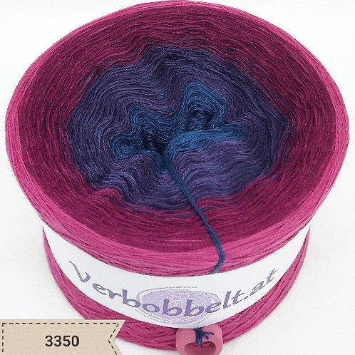 Bobbel mit wunderschönem Farbverlauf in beerenfarben zum häkeln und stricken