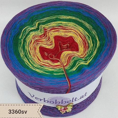 Farbenfroher Bobbel zum häkeln und stricken mit sanftem Farbverlauf   Farbverlaufsgarn mit 5 Farben
