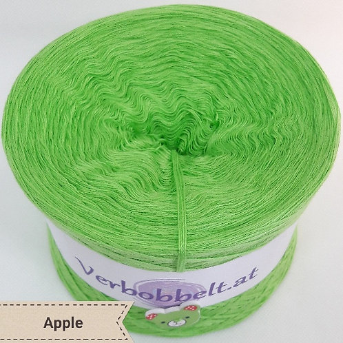 Bobbel einfärbig-apfelgrün-Apple-Bobbel unifarben