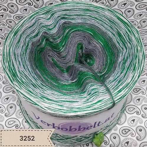 Bobbel mit Beilaufgarn - grau und grün - günstig kaufen
