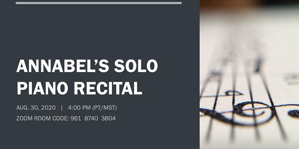 Annabel's Solo Piano Recital