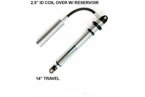 2.5 Coil Over Shocks w/ Reservoir – 14 Inch Travel