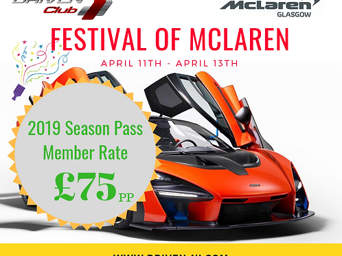 Festival of McLaren (MEMBER ONLY DISCOUNT) - Only for 2019 Season Pass Holders