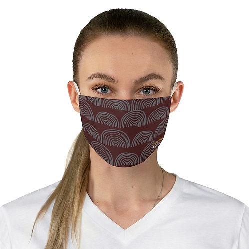 Fabric Face Mask - Boho Maroon