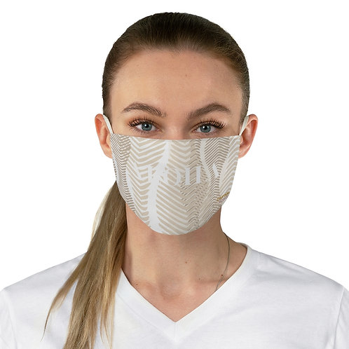 "Fabric Face Mask - Brown ""ALOHA"""