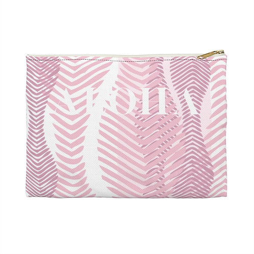 "Flat Accessory Pouch - Coral ""ALOHA"""