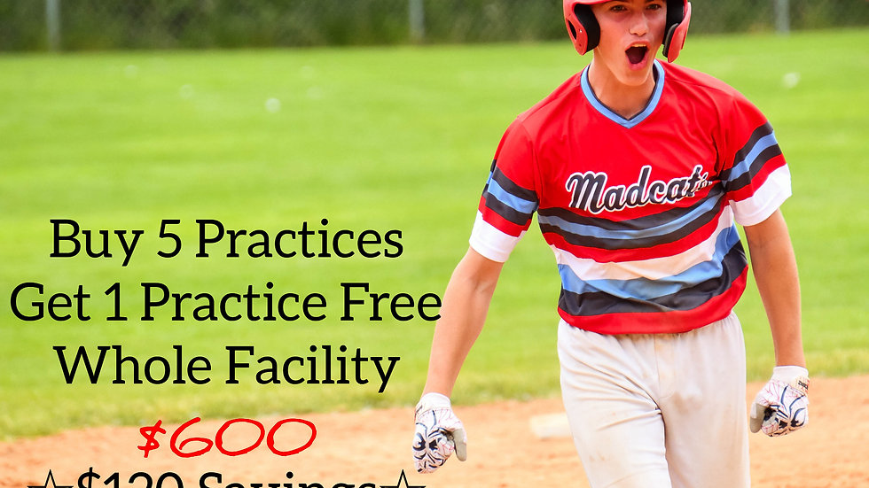 Buy 5 Practices get 1 Free - Whole Facility