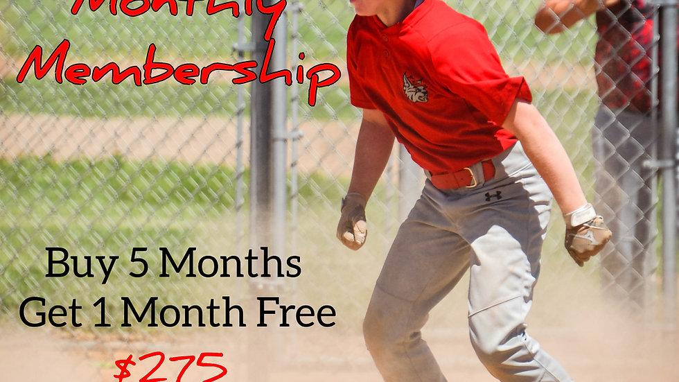Buy 5 months get 1 Free Individual Membership