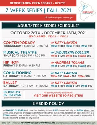 Adult/Teen 7 Week Series