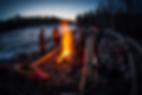 Riverside camp fire