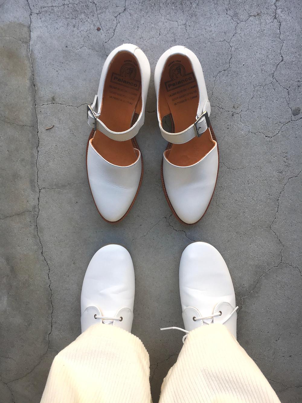 パランコ 白い靴