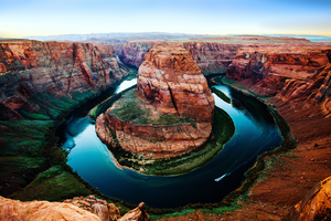 The classic blue water of the Colorado River. Canon 5d Mark II, 16mm, ISO 250, f/4.0, 1/100 sec