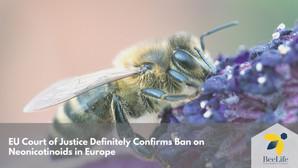 La Cour de justice de l'Union européenne confirme définitivement l'interdiction des néonicotinoïdes