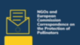 Response from the European Commission to NGOs on the Protection of Pollinators