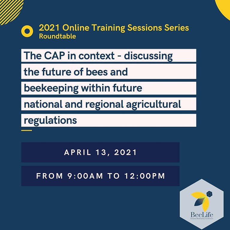 The CAP in context - discussing the future of bees and beekeeping within future national and regional regulations